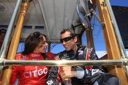 Drivers presentation: Milka Duno, Dreyer & Reinbold Racing, Justin Wilson, Dale Coyne Racing