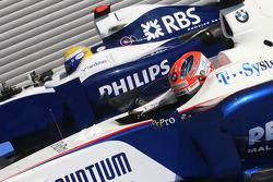Nico Rosberg, Williams F1 Team and Robert Kubica, BMW Sauber F1 Team