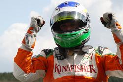 Giancarlo Fisichella, Force India F1 Team on pole position