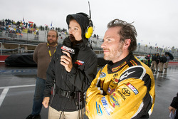 Jacques Villeneuve with ESPN's Jamie Little