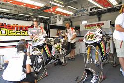 LCR Honda MotoGP team members at work