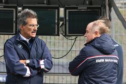 Dr. Mario Theissen, BMW Sauber F1 Team, BMW Motorsport Director and Friedhelm Nohl, BMW Motorsport