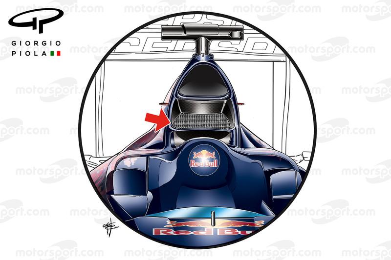Entrée d'air de la Toro Rosso STR9