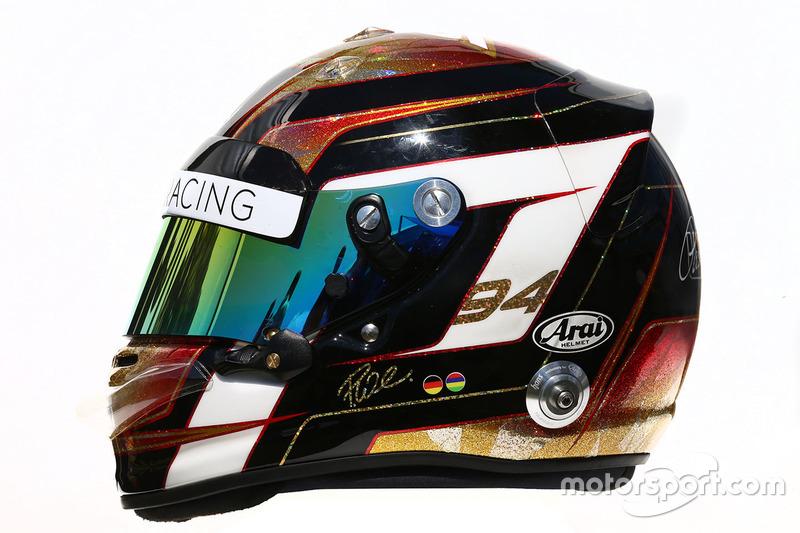 El casco de Pascal Wehrlein, Manor Racing