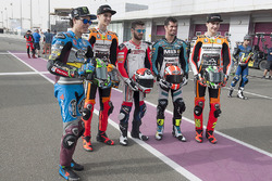 Franco Morbidelli, EG 0,0 Marc VDS, Kalex; Luca Marini, Athina Forward Racing, Kalex Alessandro Tonucci, Tasca Racing Scuderia Moto2, Kalex; Simone Corsi, Speed Up Racing, Speed Up; Lorenzo Baldassarri, Athina Forward Racing, Kalex
