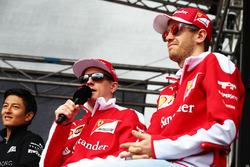 Kimi Raikkonen, Ferrari en Sebastian Vettel Ferrari