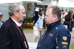 Jerome Stoll, Renault Sport F1 President with Andy Palmer, Aston Martin CEO