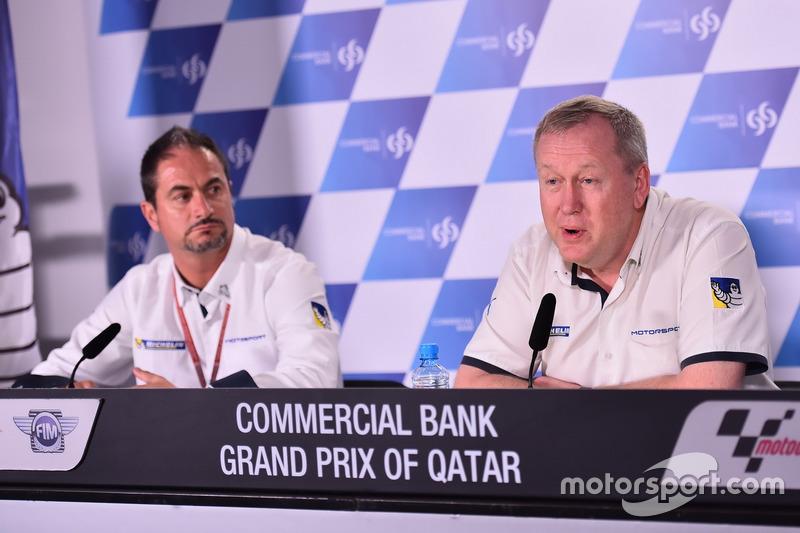 Piero Taramasso, Director de la dos ruedas Michelin Motorsport y Pascal Couasnon, Director de Michelin Motorsport