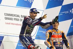 Podio: il vincitore della gara, Jorge Lorenzo, Yamaha Factory Racing