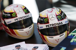 Mini helmets of Lewis Hamilton, Mercedes AMG F1 Team