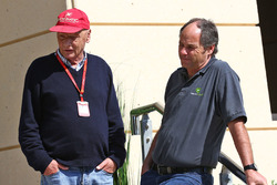Niki Lauda, Mercedes Non-Executive Chairman with Gerhard Berger