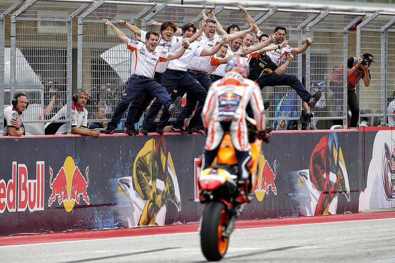 El ganador de la carrera, Marc Marquez, Repsol Honda Team