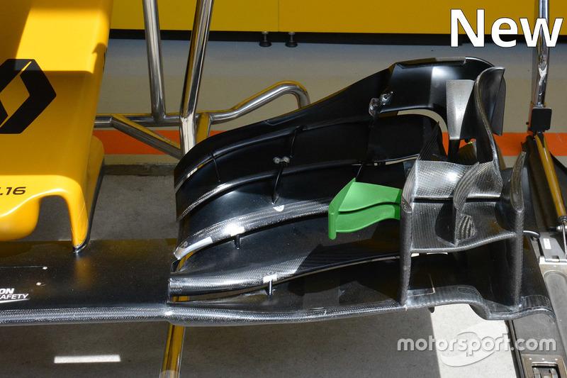 Renault Sport F1 Team nieuwe voorvleugel detail