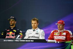 Conferenza stampa: Daniel Ricciardo, Red Bull Racing, Nico Rosberg, Mercedes AMG F1 Team e Kimi Raikkonen, Ferrari