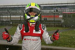 Lucas di Grassi, Audi Sport Team Joest, in de sneeuw