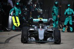 Nico Rosberg, Mercedes AMG F1 Team W07, Boxenstopp