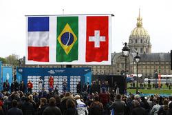 Podio: il vincitore Lucas di Grassi, ABT Schaeffler Audi Sport, secondo Jean-Eric Vergne, DS Virgin Racing , terzo Sébastien Buemi, Renault e.Dams