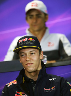 Daniil Kvyat, Red Bull Racing in the press conference