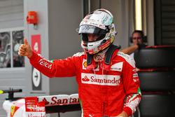 Il secondo qualificato Sebastian Vettel, Ferrari