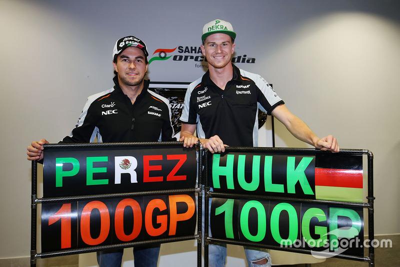 Sahara Force India F1 Team celebran 100 Grandes Premios con Nico Hulkenberg y Sergio Pérez, Sahara Force India F1