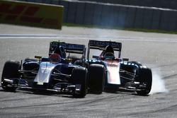 Паскаль Верляйн, Manor Racing MRT05 блокирует колеса на торможении