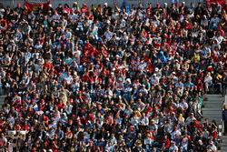 Фанаты на главной трибуне