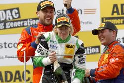 Podium: #24 kfzteile24 - APR Motorsport, Audi R8 LMS: Florian Stoll, Laurens Vanthoor and #50 YACO Racing, Audi R8 LMS: Rahel Frey