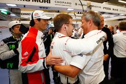 Mark Webber, Andreas Seidl, Team Principal Porsche Team, Fritz Enzinger, Vice President LMP1, Porsche Team