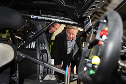Colin Barnett, West Australian Premier takes a look at the car of Mark Winterbottom, Prodrive Racing Australia Ford