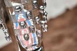 El trofeo de Borg-Warner en el Wrigley Field de Chicago Cubs