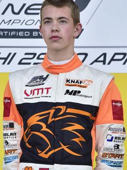 Podio: ganador de la carrera Richard Verschoor