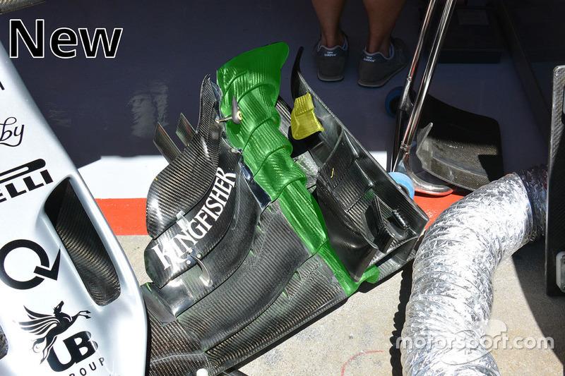 Sahara Force India F1 VJM09, dettaglio della nuova ala anteriore