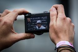 Fernando Alonso, McLaren through a camera screen