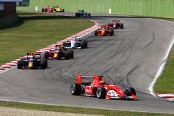 Kazim Vasiliauskas leads on lap one