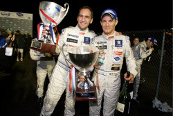 Race winners Stéphane Sarrazin and Franck Montagny celebrates