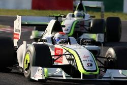 Rubens Barrichello, BrawnGP leads Jenson Button, BrawnGP
