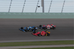 Tomas Scheckter, Dreyer & Reinbold Racing; Graham Rahal, Newman/Haas/Lanigan and Dan Wheldon, Panther Racing