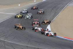 Start: John Edwards, Newman Wachs Racing leads the field