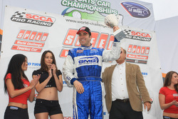 Podium: race winner James Sofronas