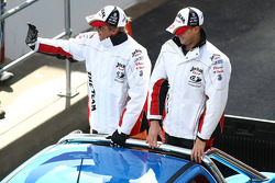 Driver Parade: #18 Jim Beam Racing: Warren Luff, Jonathon Webb
