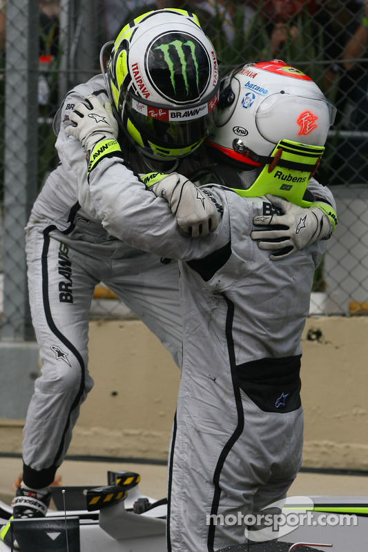 Jenson Button, Brawn GP y Rubens Barrichello, Brawn GP