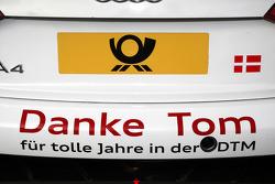 Rear of the car of Tom Kristensen, Audi Sport Team Abt Audi A4 DTM