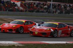 #77 BMS Scuderia Italia Ferrari F430: Matteo Malucelli, Paolo Ruberti, #55 CRS Racing Ferrari F430: Antonio Garcia, Tim Mullen