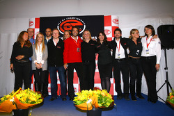 Prize giving party: Stéphane Ratel and the SRO staff