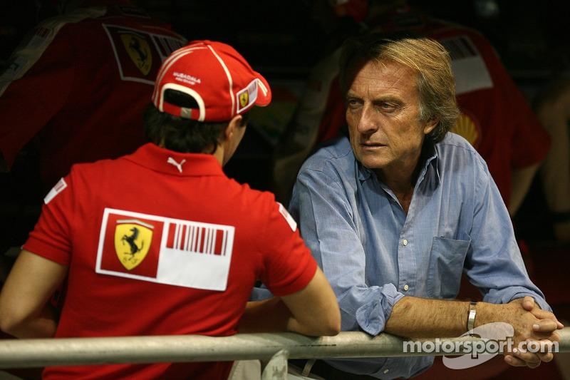 Felipe Massa, Scuderia Ferrari en Luca di Montezemolo, president Scuderia Ferrari