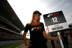 Grid girl for Robert Wickens