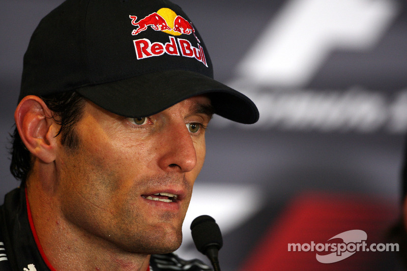 Conferencia de prensa de la FIA: Mark Webber, Red Bull Racing