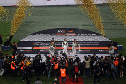 Podium: Nations Cup winners Michael Schumacher and Sebastian Vettel for Team Germany, second place Andy Priaulx and Jenson Button for Team Autosport GB
