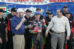 Jeff Gordon is presented the $40,000 Bretta Shotgun for winning the pole at Texas Motor Speedway