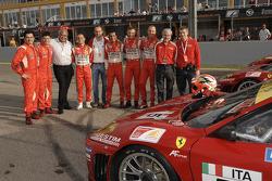 GT: Jaime Melo, Pierre Kaffer, Guiseppe Risi, Alvaro Barba Lopez, Amato Ferrari, Niki Cadei, Toni Vilander and Gianmaria Bruni